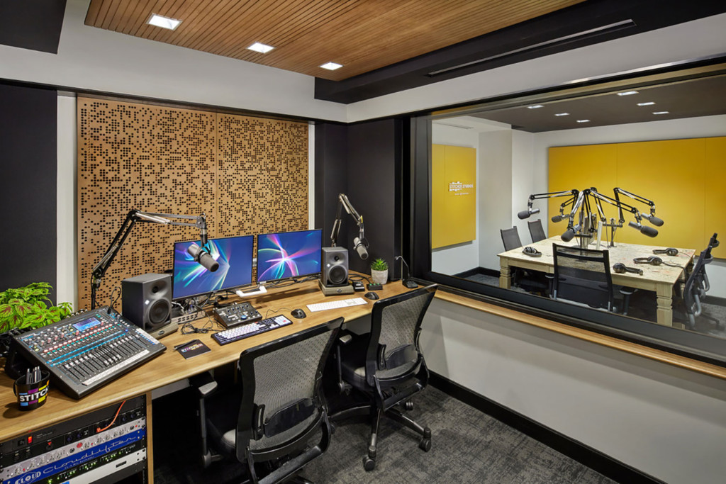 Stitcher is among the earliest, the most creative and most successful podcast creator companies. Their team made a move to build out larger production facilities in both its NY and LA offices and they chose WSDG to design their new podcast studios facilities. Control C.