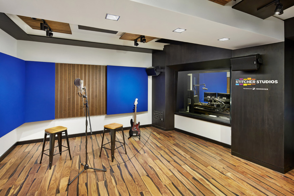 Stitcher is among the earliest, the most creative and most successful podcast creator companies. Their team made a move to build out larger production facilities in both its NY and LA offices and they chose WSDG to design their new podcast studios facilities. Studio A.