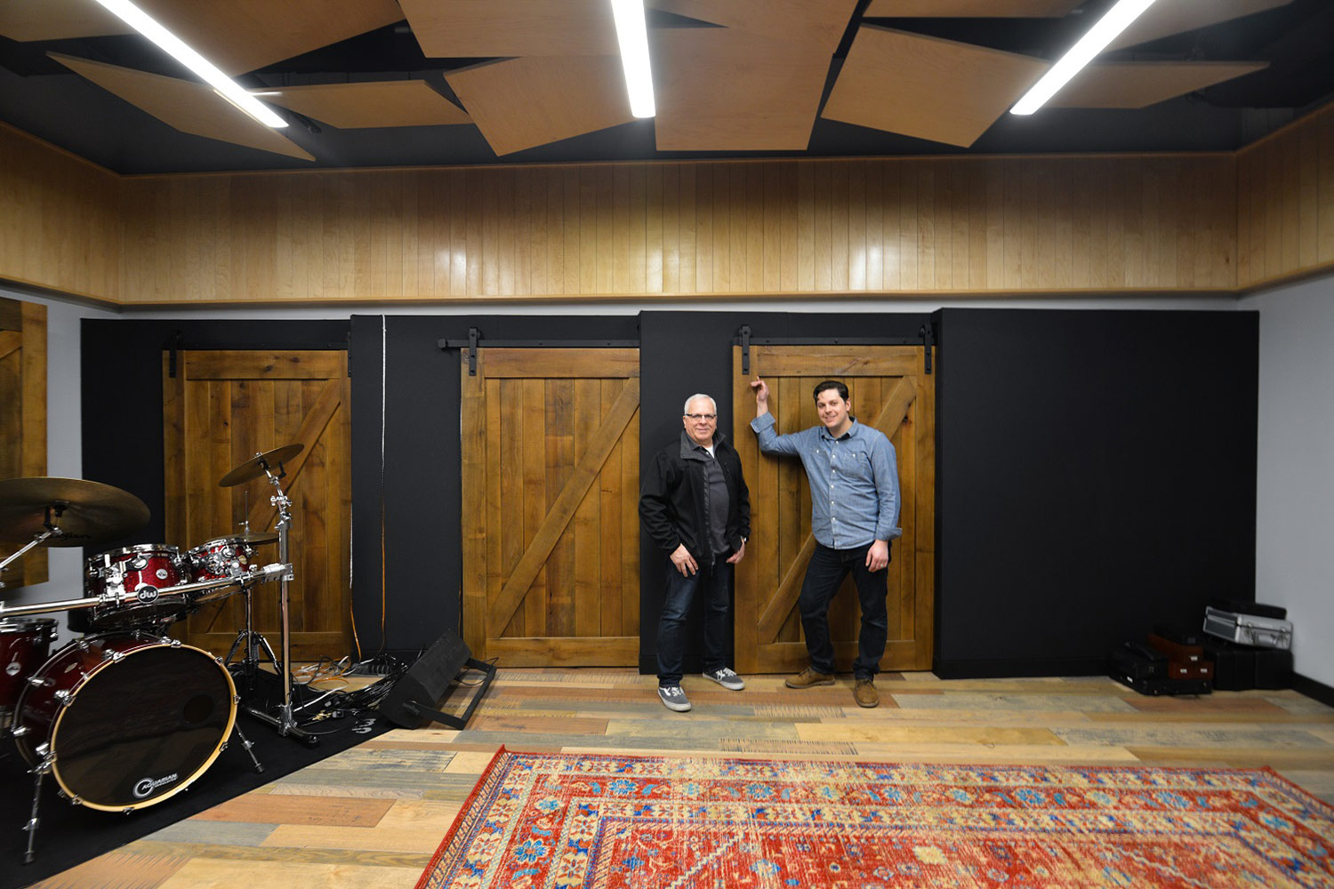 Salvation Army Eastern Territory Recording Studio. WSDG was called to redesign the complex. Live Room, Phill Bulla (Salvation Army) and Matthew Ballos (WSDG).