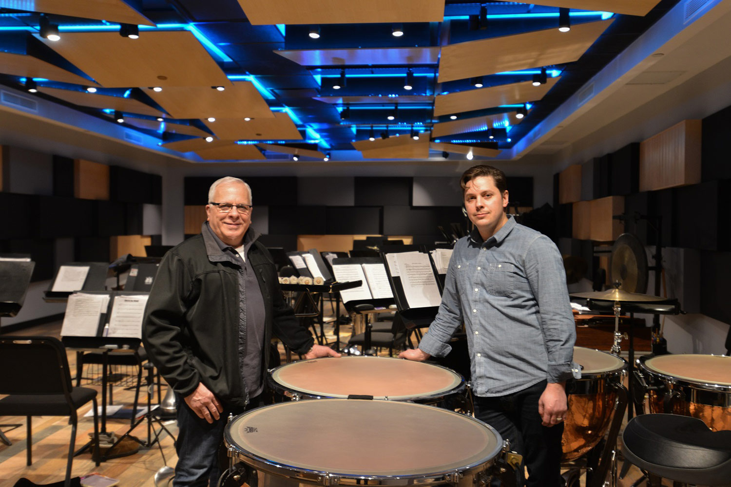 Salvation Army Eastern Territory Recording Studio. WSDG was called to redesign the complex. Live Room, Phill Bulla (Salvation Army Engineer) and Matthew Ballos (WSDG).
