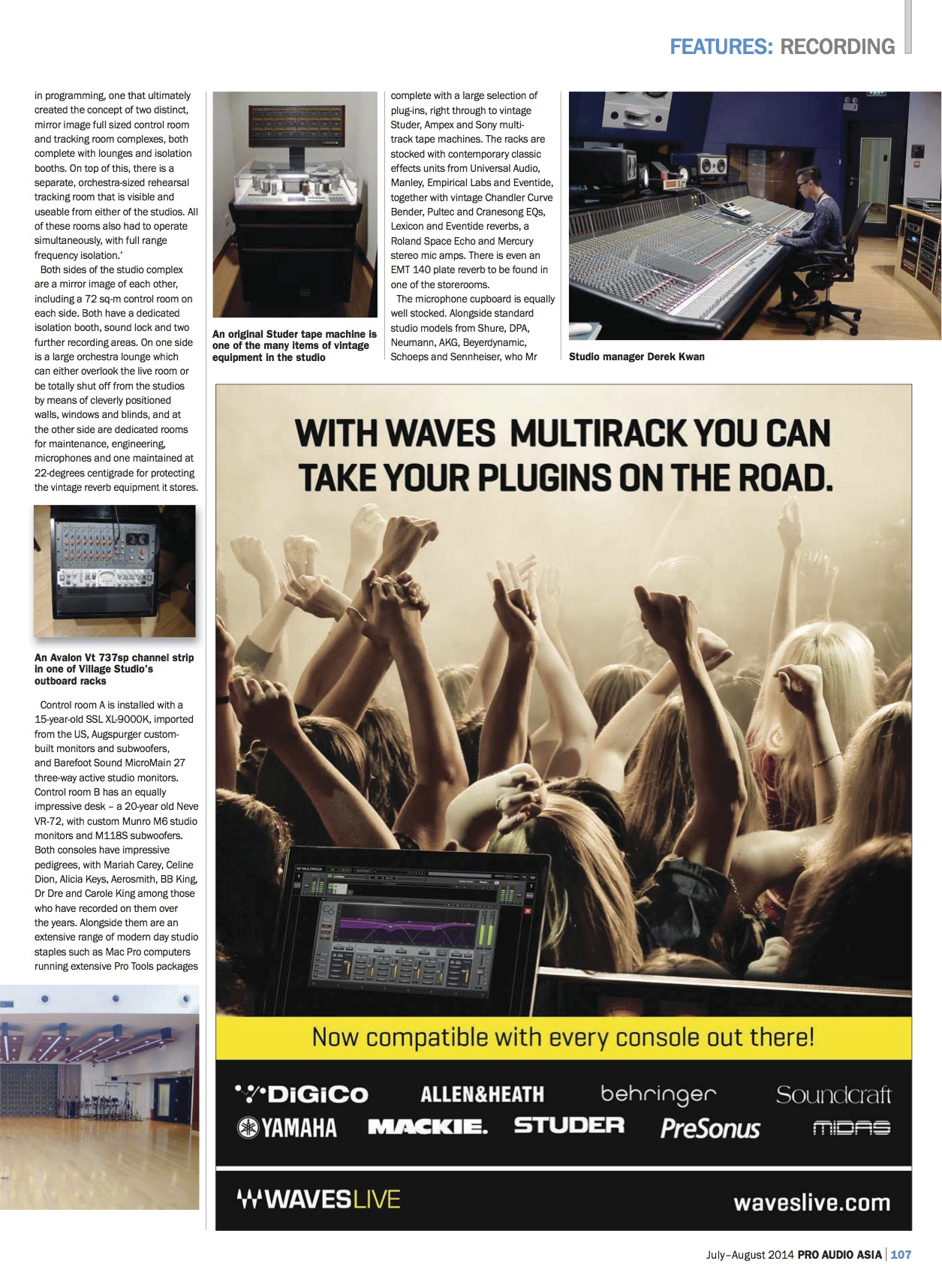 Pro Audio Asia - Village Studios - p2 July 2014
