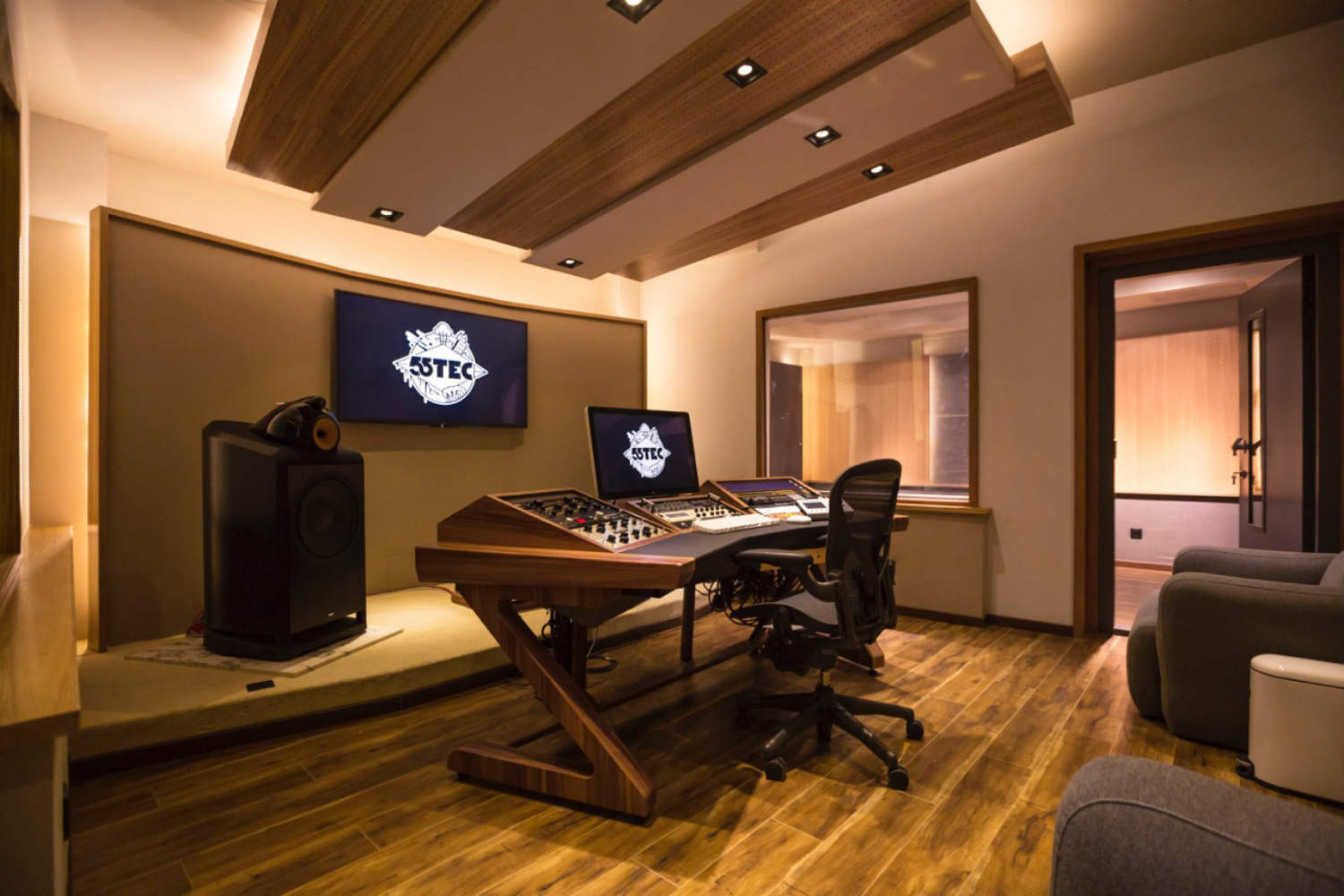 55TEC Studio in Beijing, China - New World-Class Recording Studio designed by WSDG owned by Li You. Control Room B