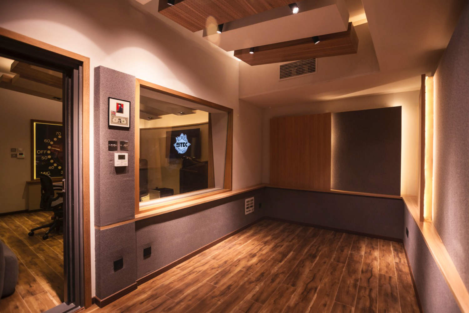 55TEC Studio in Beijing, China - New World-Class Recording Studio designed by WSDG owned by Li You. Live Room B / ISO