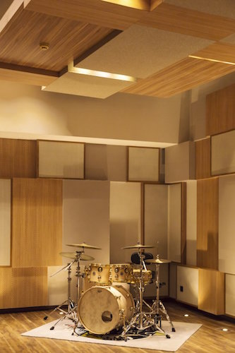 55 TEC Studio in Beijing, China featured at the prestigious magazine The Beijinger. Studio designed by architectural acoustics firm, WSDG. Featured drums in live room