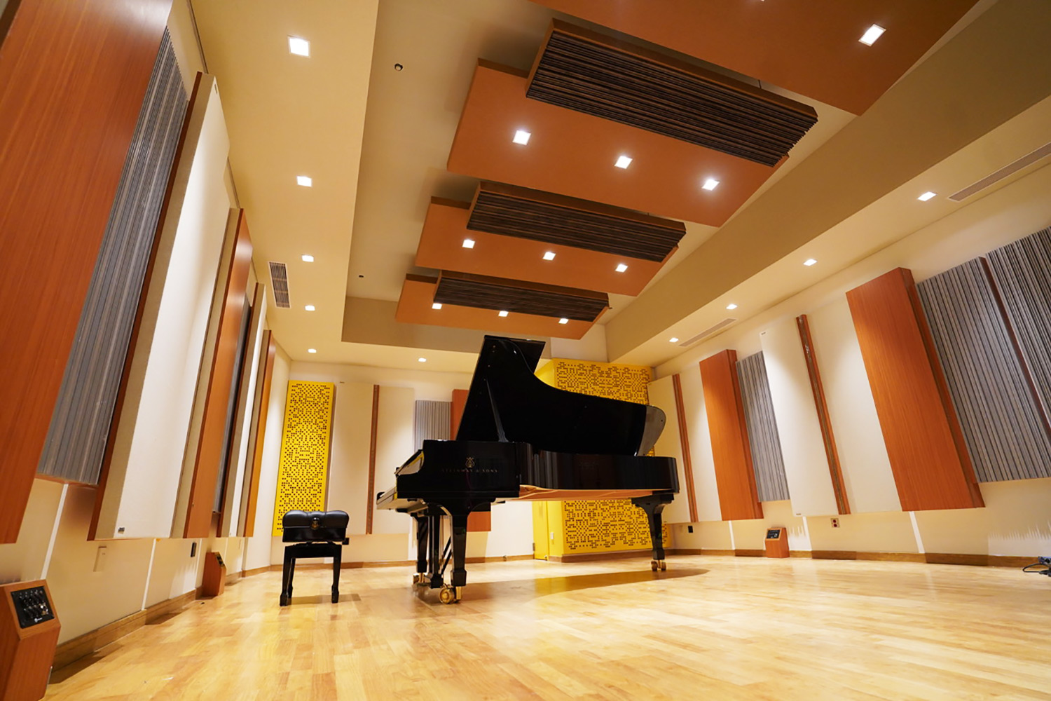The prestigious Xinghai Conservatory of Music engaged WSDG to develop their new world-class ACE Studios, based on their recent success in Chinese studios. Live Room.