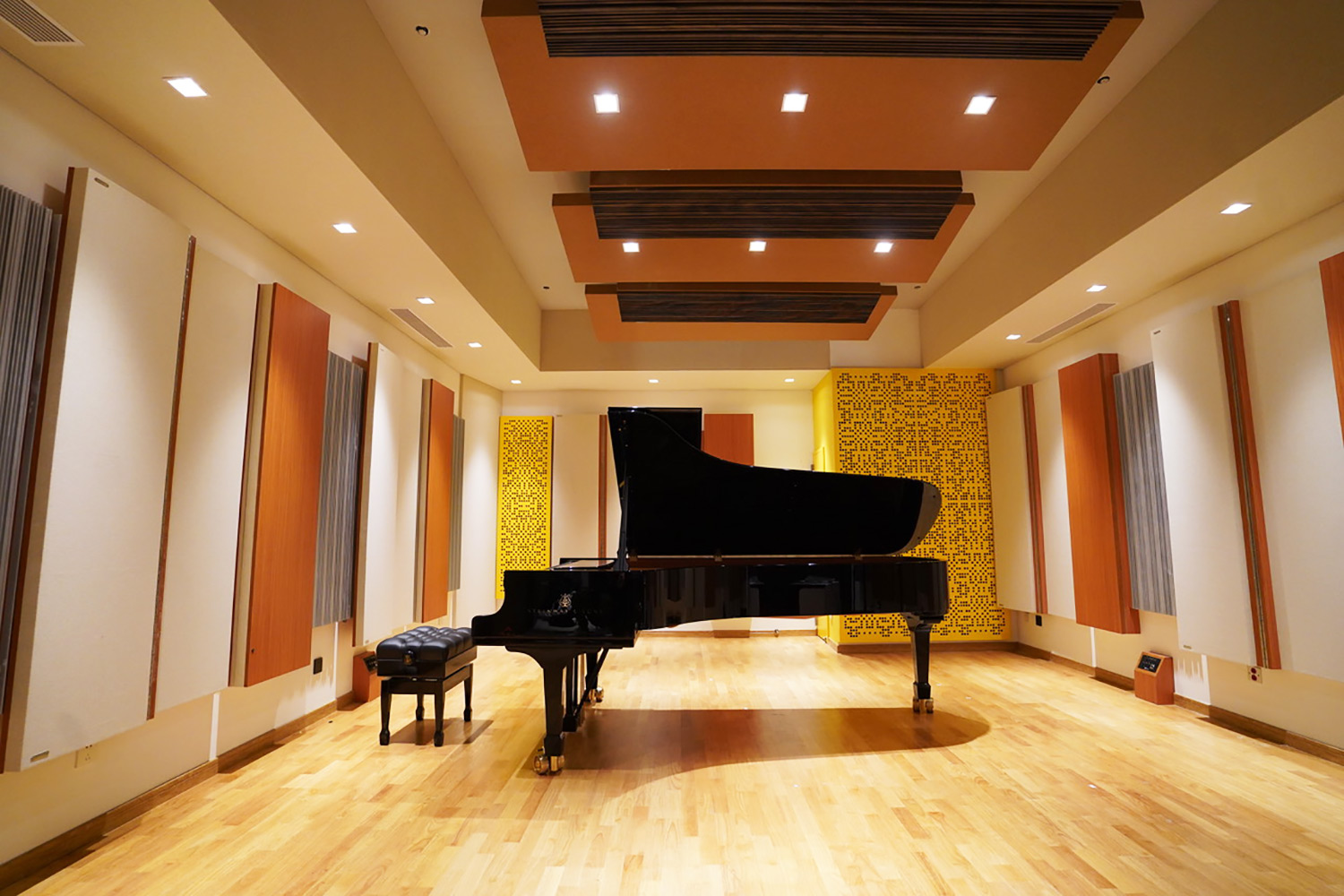 ACE Studios in Guangzhou, China. Designed by WSDG. Live Room wide photo.