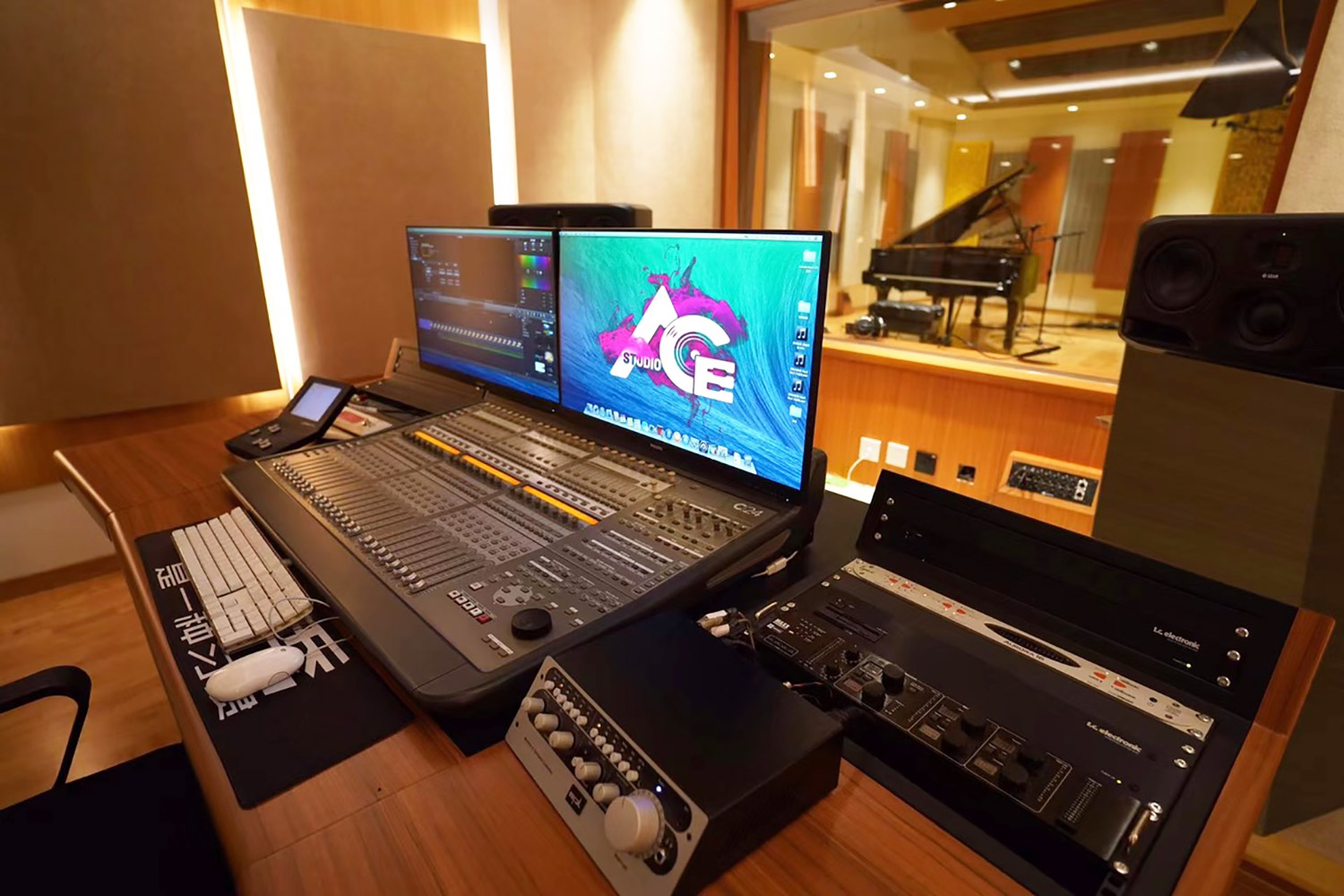The Xinghai Conservatory of Music new ACE Studios designed by WSDG. Control Room close-up.