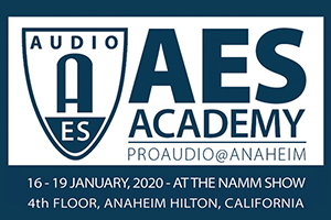 AES Academy at NAMM 2020 Official Logo.