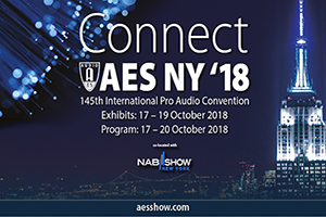The AES (Audio Engineering Society) is hosting their 145th pro audio convention in New York city. WSDG will be attending with a booth and giving different lectures.