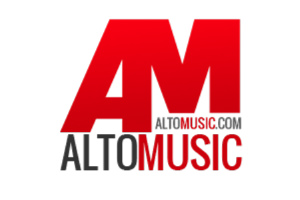 Alto Music, voted #1 independent music store logo.