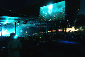 Gorillaz performing at Merriweather Post Pavilion in Columbia, Md. I.M.P. - Acoustics solutions Designed by WSDG