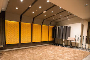 Audible is the world's largest producer/distributor of downloadable audiobooks and other spoken-word entertainment. WSDG was commissioned to design their new state-of-the-art recording studio complex. Live Room A Feat