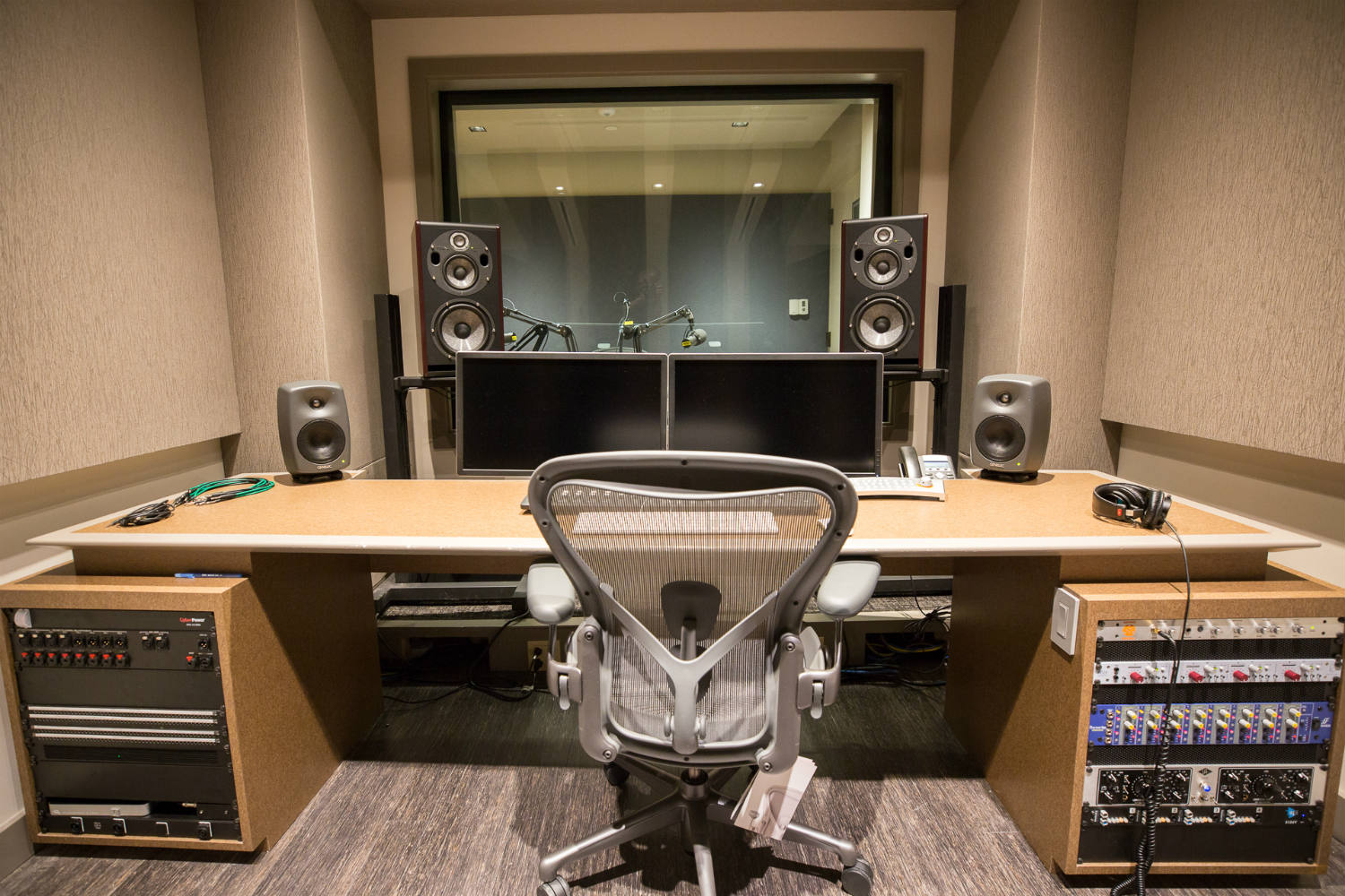 Audible is the world's largest producer/distributor of downloadable audiobooks and other spoken-word entertainment. WSDG was commissioned to design their new state-of-the-art recording studio complex. Control Room B Front