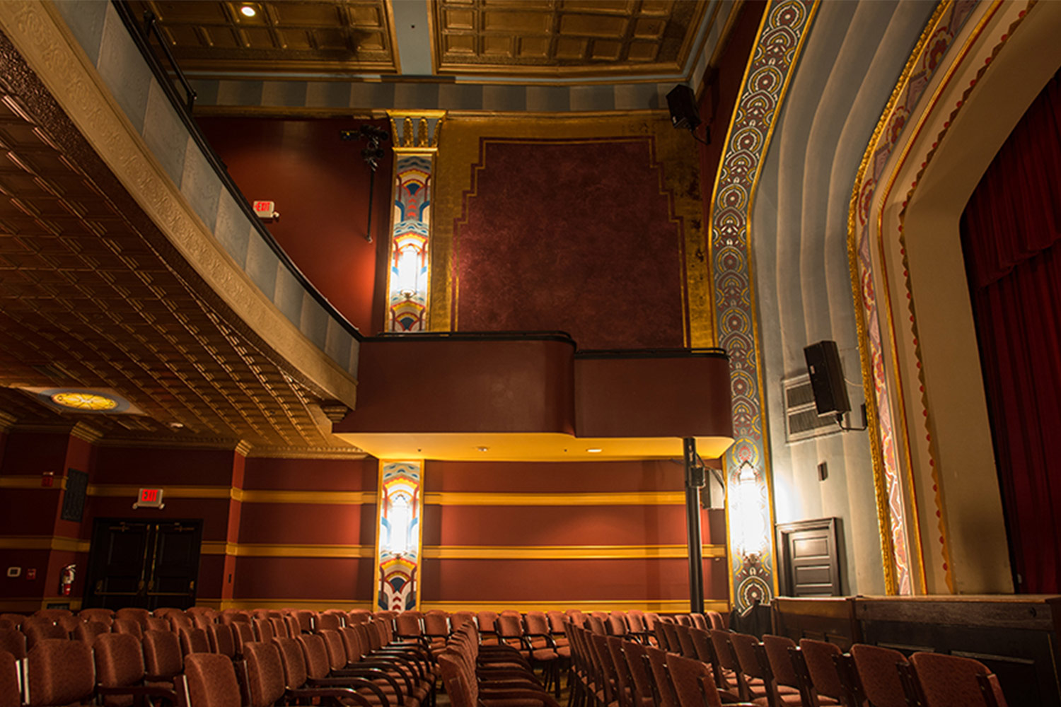 The Avalon Foundation, which runs the Avalon Theatre, secured the services of WSDG during a larger overall renovation initiative to update the theater's acoustics, production lighting, and audiovisual capabilities. Theater inside.