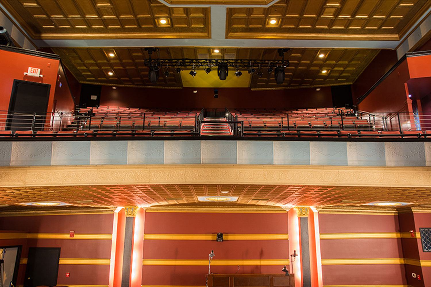The Avalon Foundation, which runs the Avalon Theatre, secured the services of WSDG during a larger overall renovation initiative to update the theater's acoustics, production lighting, and audiovisual capabilities. Balcony.