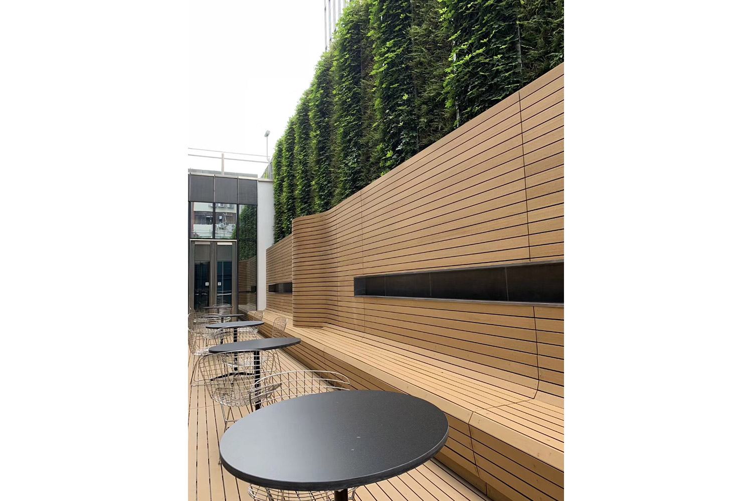 Avenues: The World School in Shenzhen, China consists of two locations in Shenzhen's Nanshan District. WSDG provided acoustic and A/V systems consulting as well as construction supervision for the two locations. Patio.