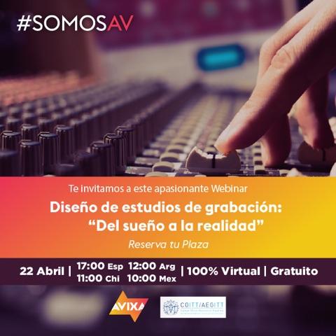 AVIXA Webinar por Sergio Molho de WSDG acerca de Diseño de estudios de grabacion.
