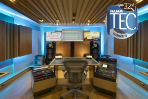 Boston Symphonic Orchestra Control Room Winner of the 32nd TEC Award in the category of Best Studio Design