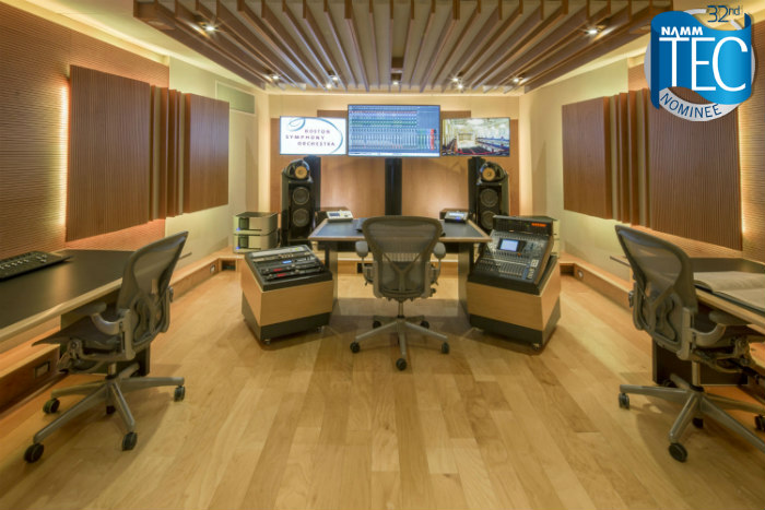 Boston Symphone Orchestra Control Room, Designed by WSDG got nominated for the 32nd annual TEC Awards