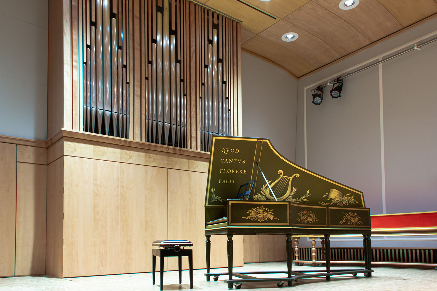 WSDG were retained to improve the hall's sound isolation and A/V components of the Basel Music Academy, and conserving their acoustic signature. Piano.