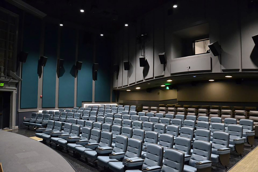 The Bedford Playhouse/Clive Davis Arts Center is a classic movie theater in the final stages of a total renovation. WSDG is providing complete acoustic and A/V design and consultation for the complex.Main Dolby Atmos Theater