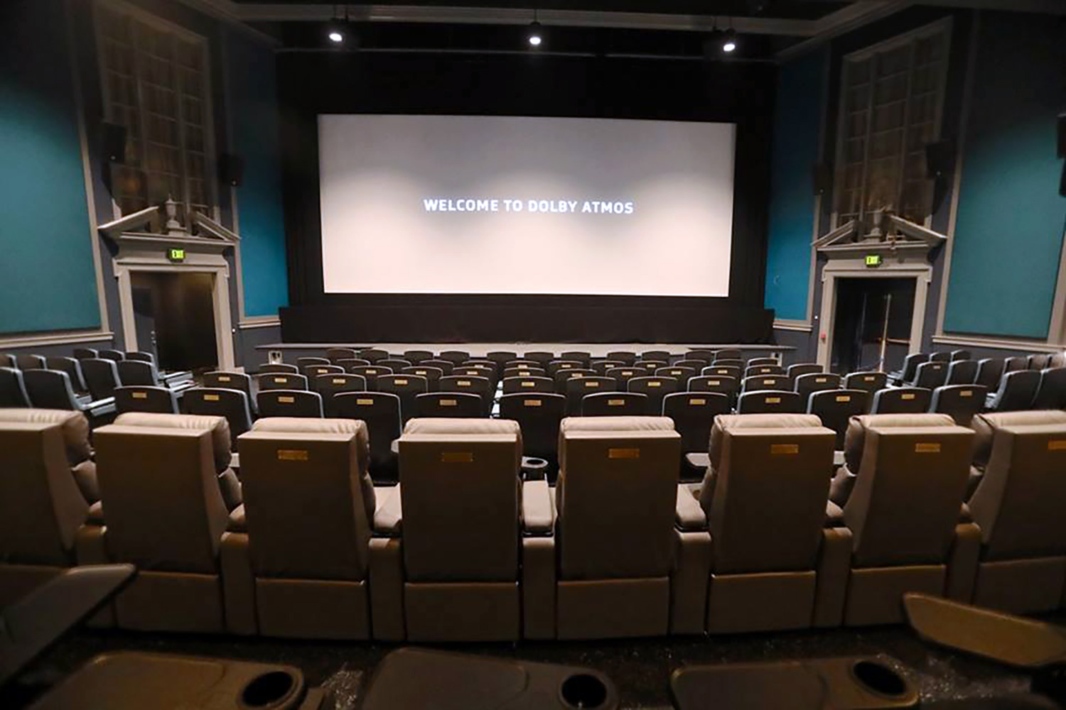 The Bedford Playhouse/Clive Davis Arts Center is a classic movie theater in the final stages of a total renovation. WSDG is providing complete acoustic and A/V design and consultation for the complex.Main Dolby Atmos Theater Screen View 2