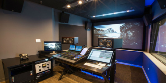 Blue Table Post Video/Audio Post Production Mixing Suite with Dolby Atmos Audio Technology designed by WSDG