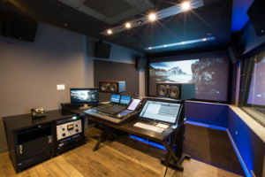 Blue Table Post Mixing Suite, located at Brooklyn NY, a 2-stories post-production facility designed by WSDG and owned by Mr. Oliver Lief