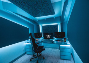 Recognizing the value of superior studio design / acoustic excellence, Hit recording duo Cat Dealers commissioned WSDG to create a compact yet powerful dream recording studio. Best Project Studio Design. Blue Light.