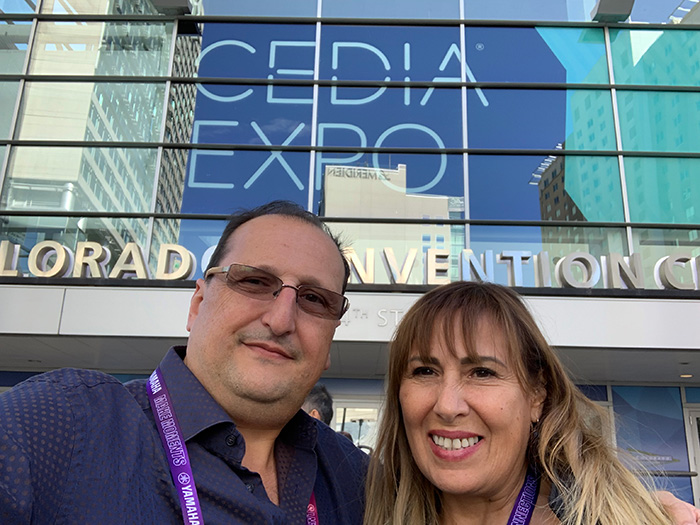 CEDIA 2019 in Denver Colorado, Silvia Molho and Sergio Molho from WSDG attending and giving a lecture.