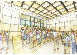 Concordia University Irvine, WSDG was commissioned for the design and acoustics of the facility. Sketch choir room