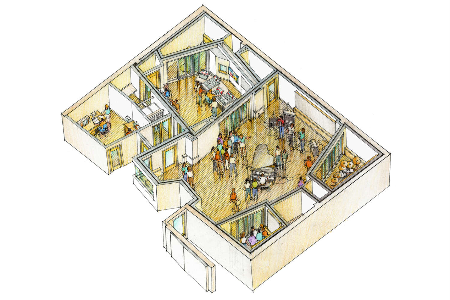 Concordia University Irvine, WSDG was commissioned for the design and acoustics of the facility. Sketch facility.