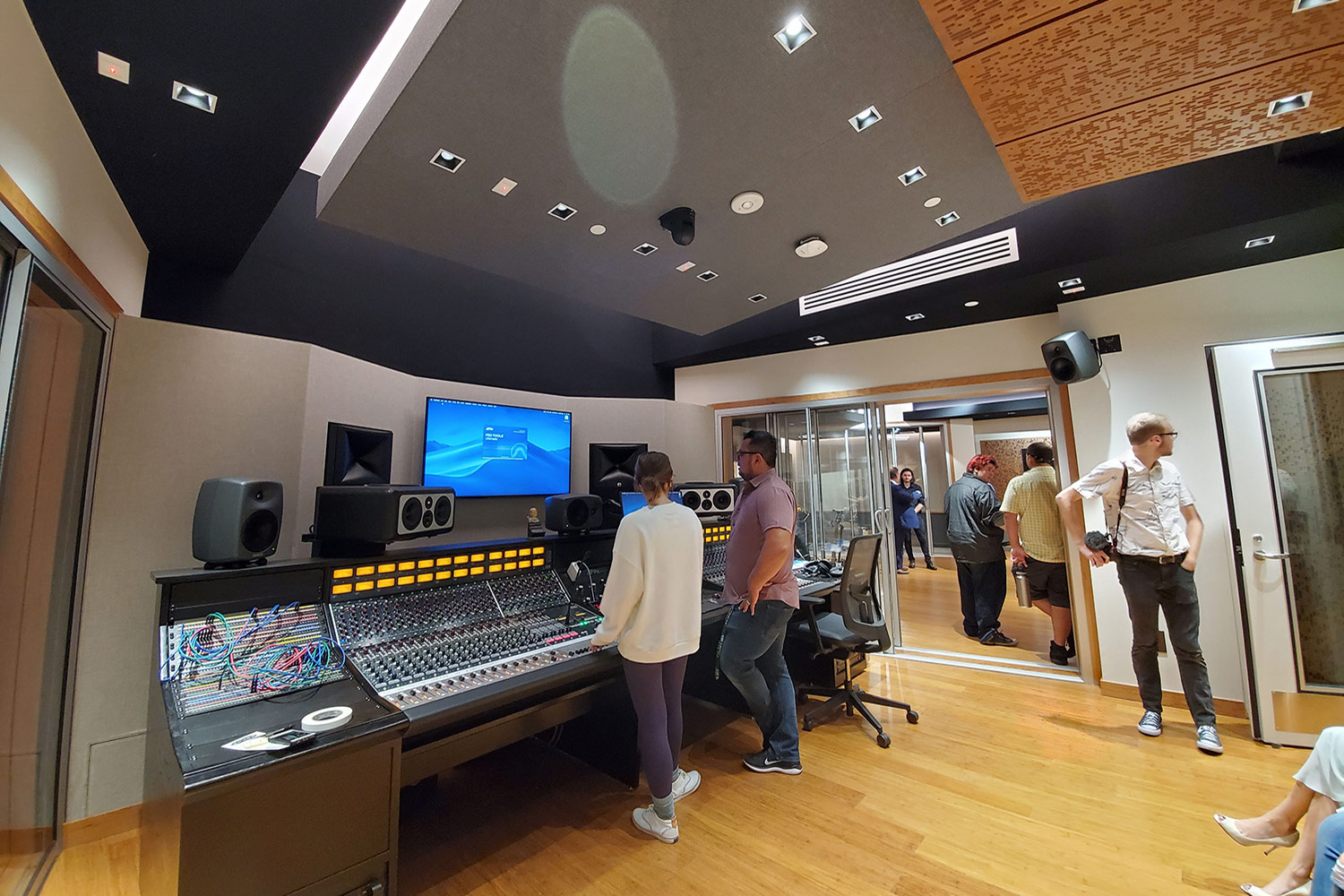 Concordia University Irvine, WSDG was commissioned for the design, acoustic consulting and systems integration of their new audio complex. Control Room.