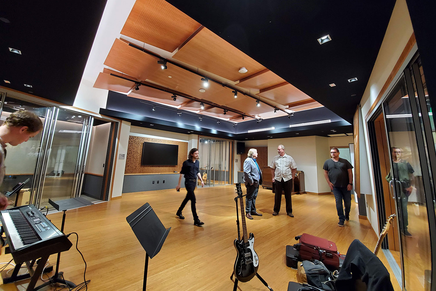 Concordia University Irvine, WSDG was commissioned for the design, acoustic consulting and systems integration of their new audio complex. Live Room.