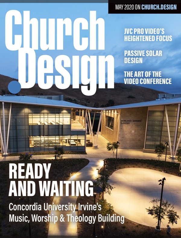Concordia University New Studios Designed by WSDG featured in Church Design Cover May 2020.