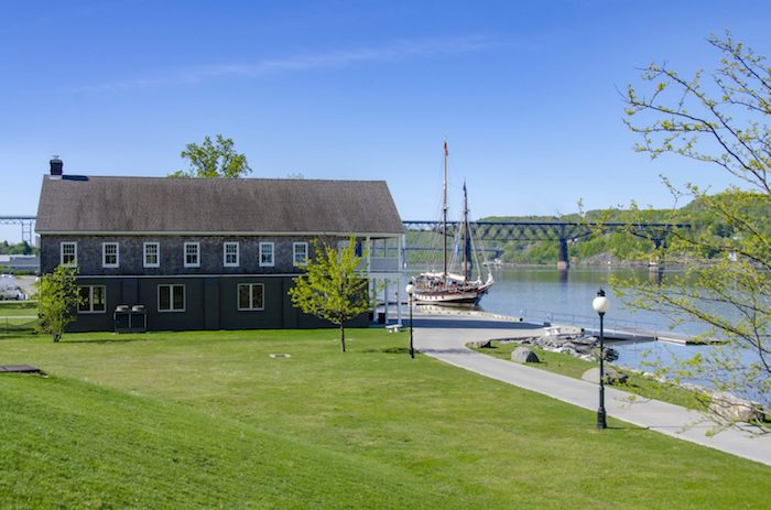 Cornell Boathouse at Marist College. Exterior photo.