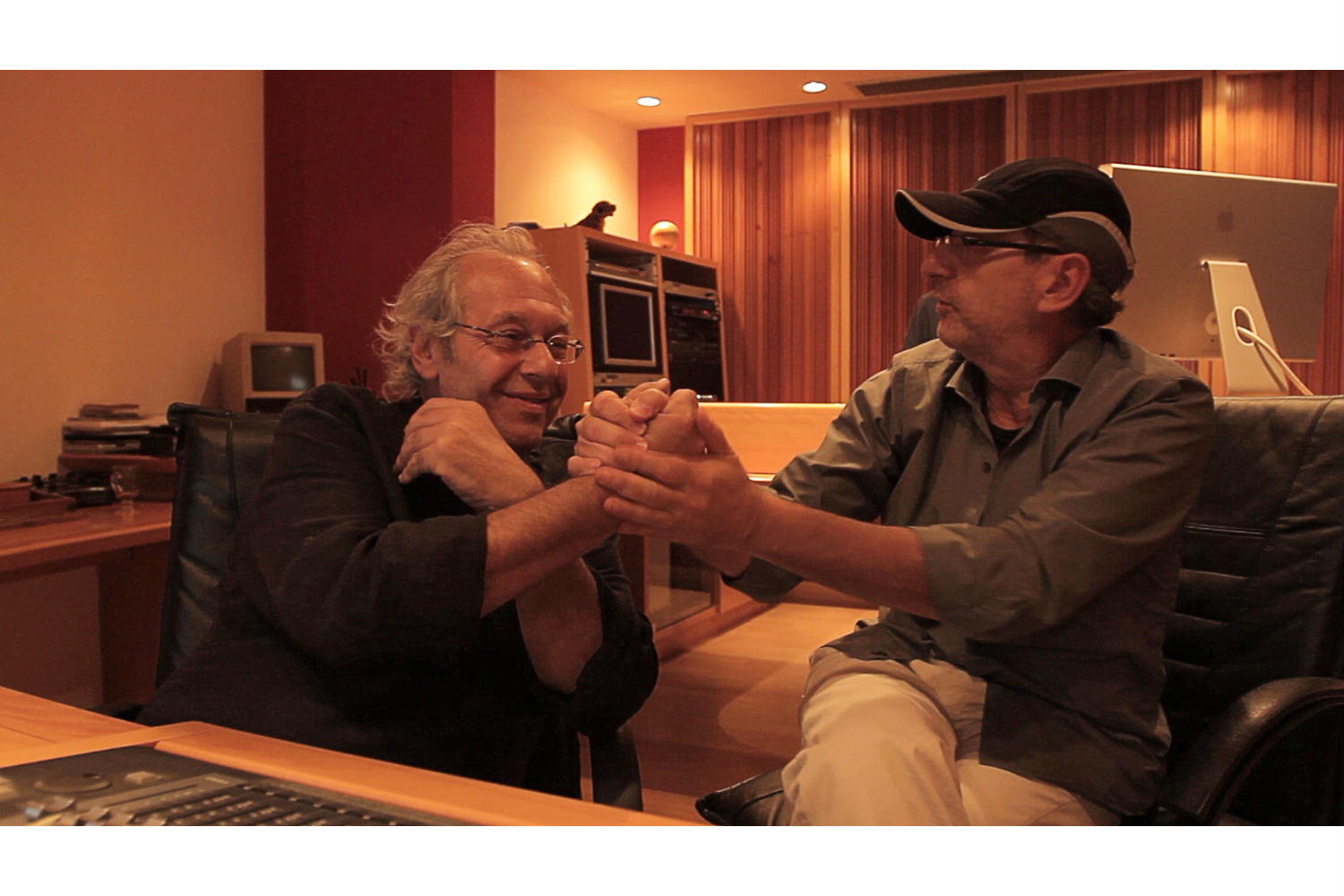 Daniel Tarrab & Andres Goldstein, founders of Swing Music Argentina and AGDT Film Music. Studio design by WSDG