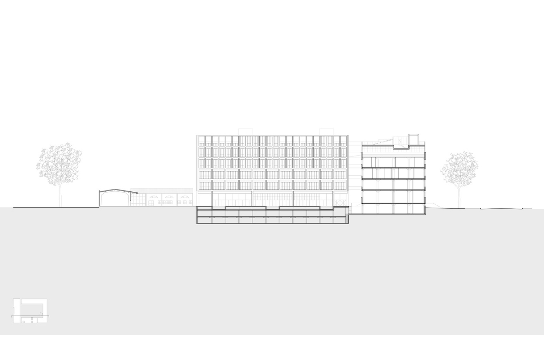 Universidad Torcuato Di Tella in Buenos Aires, Argentina. Structural drawing.