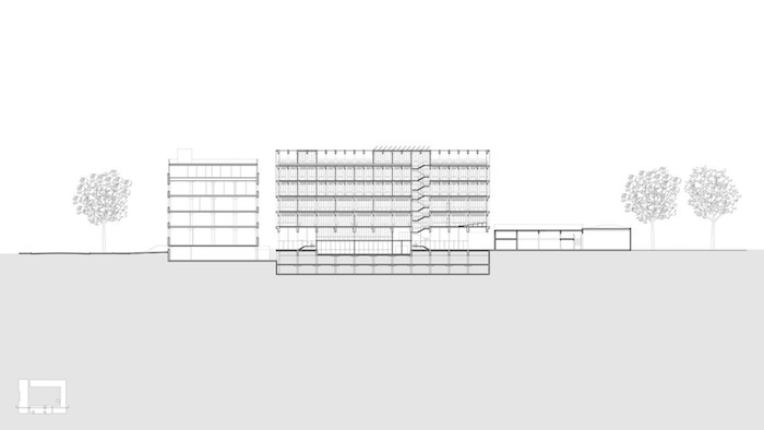 Universidad Torcuato Di Tella architect building drawing 2.