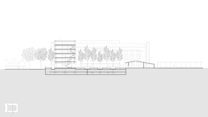 Universidad Torcuato Di Tella architect building drawing 3.