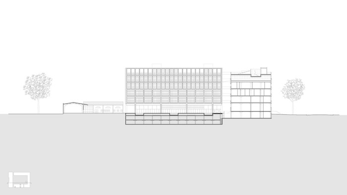 Universidad Torcuato Di Tella architect building drawing 1.