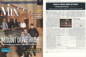 Dirk Noy featured at February Cover Story in Mix Magazine by solving acoustic issues
