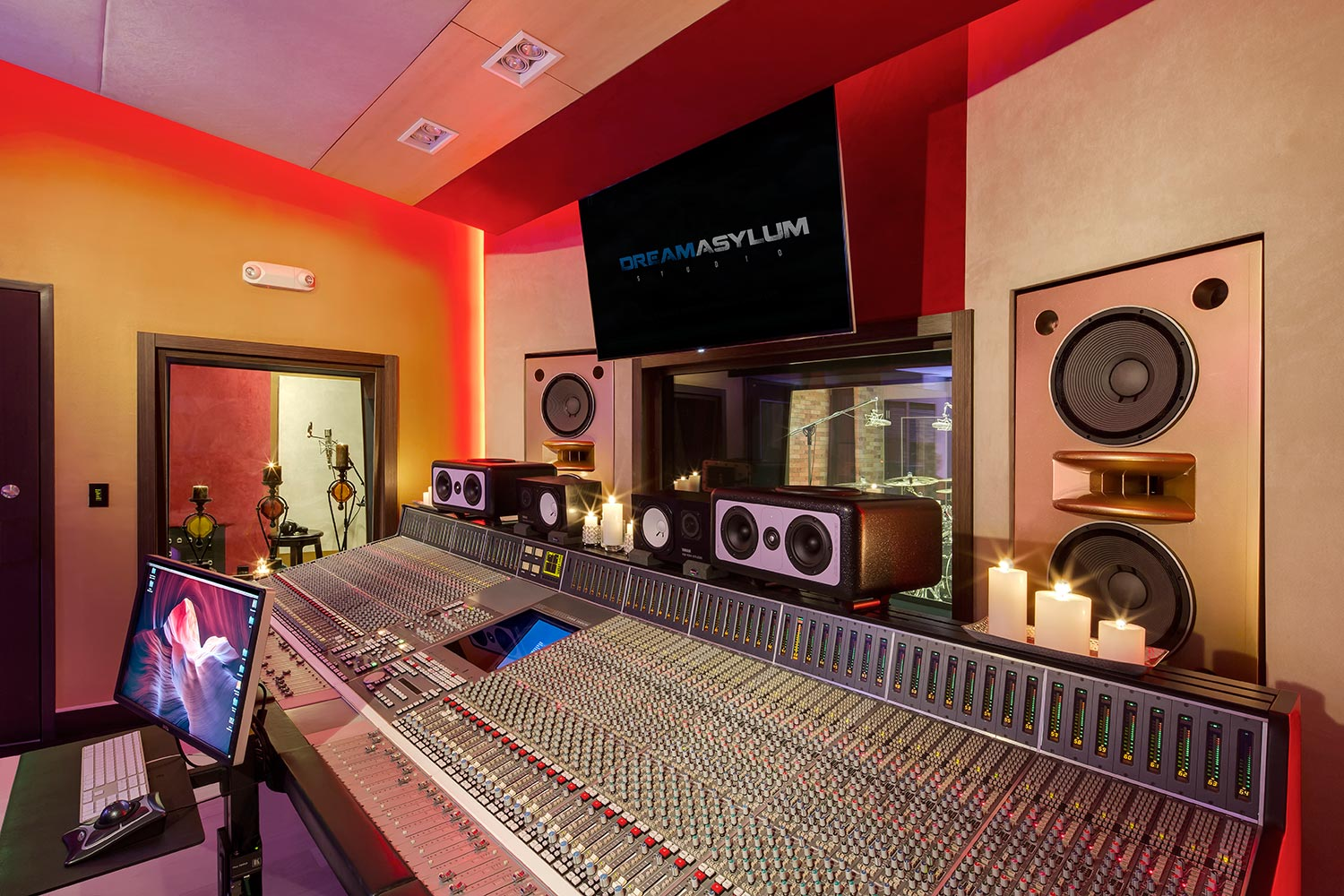 Two of the contemporary music scene's most prolific hit producers and mixing engineer, Nate 'Danja' Hills and Marcella Araica have added a cutting edge, WSDG recording studio to their N.A.R.S. (New Age Rock Stars) label. Studio A, Marcella's studio side photo.