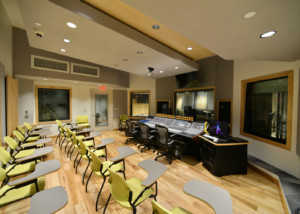 Drexel University in Philadelphia, PA is one of America's 15 largest universities. Their brand-new recording facilities, designed by the WSDG team, expands their music and recording program. Control Room Side View