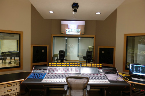 Drexler University Studio Complex designed by WSDG - Featured in InTune Monthly - Control Room Front View