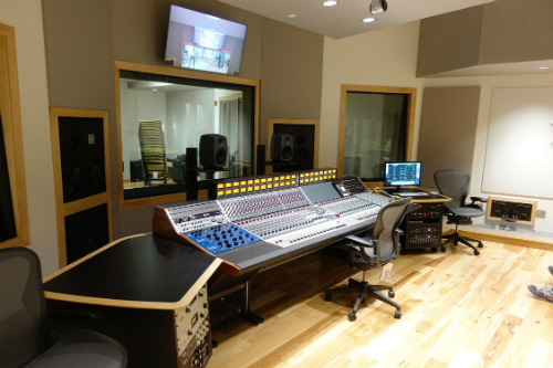 Drexler University Studio Complex designed by WSDG - Featured in InTune Monthly - Control Room Side View
