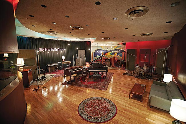 Electric Lady Studios, designed by WSDG (John Storyk), is guitar legend Jimi Hendrix's studio. Live Room A.
