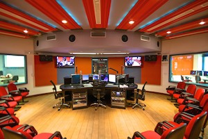ESPM Broadcasting Teaching Center in Brazil, WSDG designed broadcasting recording studio.
