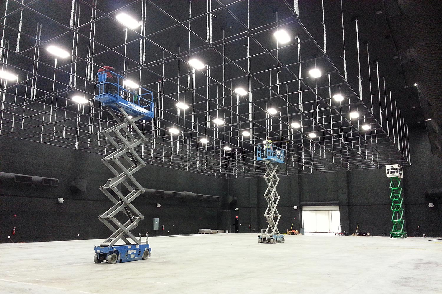 Viacom International/EUE/Screen Gems Studios recently completed construction on an 88,000 sq. ft. studio complex in Miami. WSDG was reached for an intensive feasibility study, cost/benefit analysis, and AV Systems Integration. Main area invisible acoustics treatment.