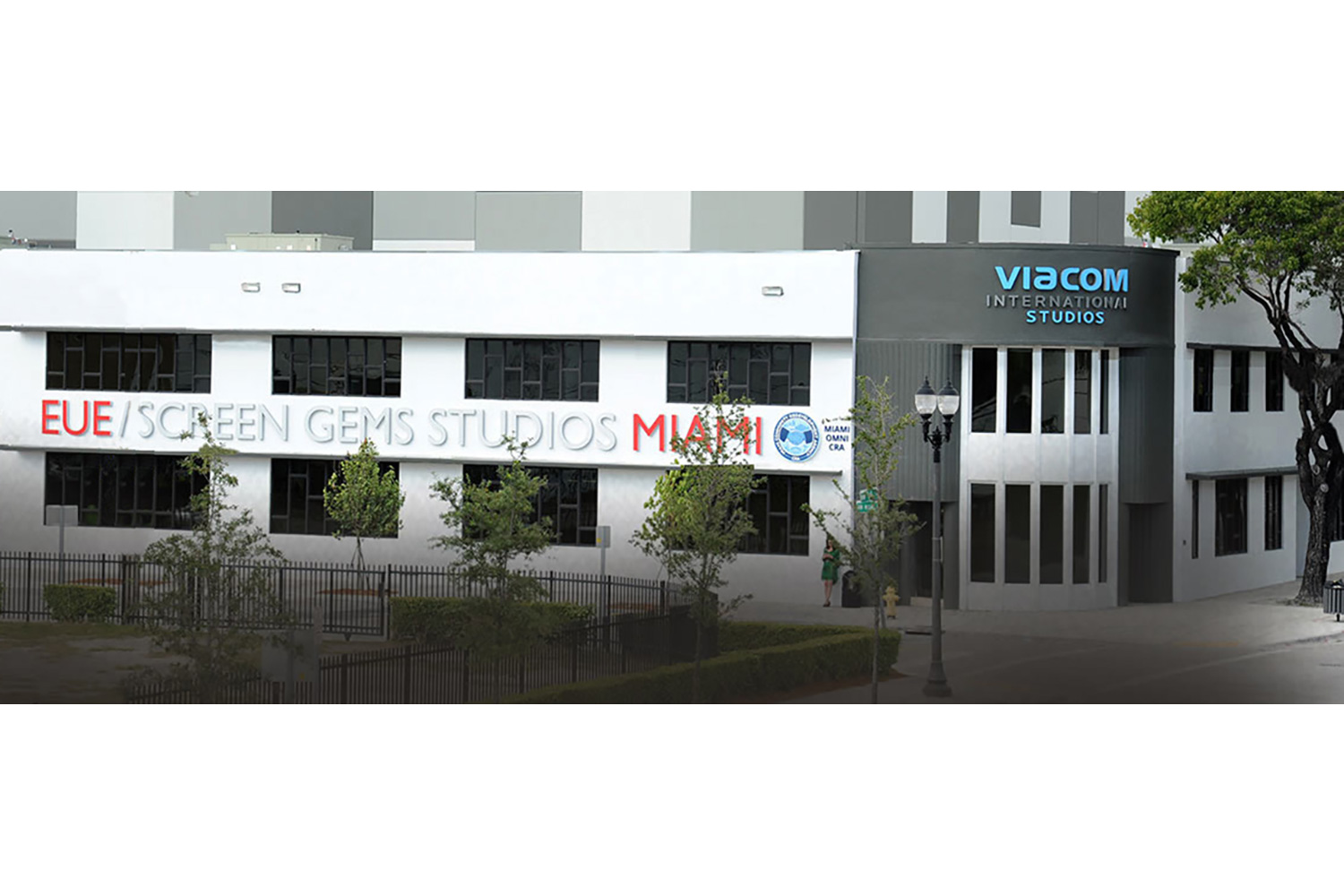 Viacom International/EUE/Screen Gems Studios recently completed construction on an 88,000 sq. ft. studio complex in Miami. WSDG was reached for an intensive feasibility study, cost/benefit analysis, and AV Systems Integration. Exterior 1